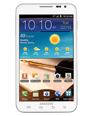 Samsung Galaxy Note Sgh I717 16gb Ceramic White At T Smartphone For Sale Online Ebay