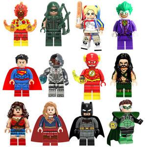 Mini-Figures-Fit-With-Lego-Marvel-Dc-Flash-Deadpool-Cyclops-Wonder-Woman-Joker
