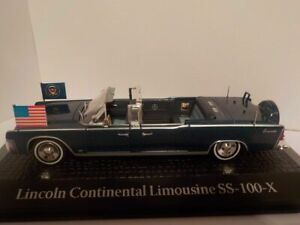 Lincoln-Continental-Limo-SS-100-X-JFK-1963-Assassination-1-43-Model-Car