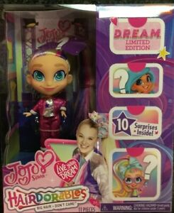 Hairdorables-JoJo-Siwa-Limited-Edition-D-R-E-A-M-Doll-Style-A-10-Surprises-New