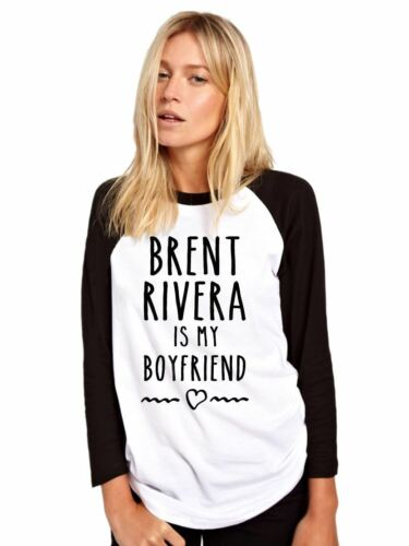 BRENT RIVERA Is My Boyfriend Merch Mädchen Damen Baseball Top M