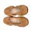thumbnail 4 - Yosi Samra Lexington Saddle Vegan Leather Foldable Ballet Flats Camel Tan Size 6