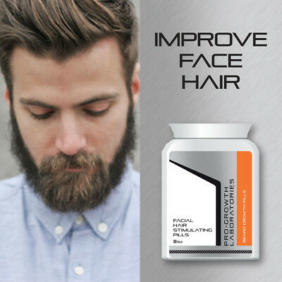 Pro Growth Men Beard Growth Pills Facial Hair Grow Thick Bushy Beard 657561848 Ebay
