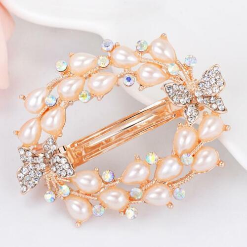 Fashion Flower Girls Barrette Rhinestone Hair Clip Hairpin Clamp Women Crystal