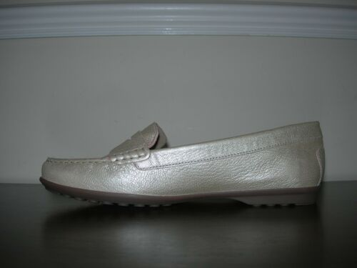7 Leather Slip Uk 41 Respira Eu Golden On Flats Women's Shoes Geox 5 Champagne p7nAqw8na