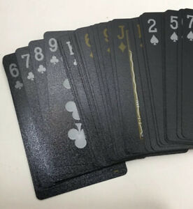 Waterproof-Plastic-Playing-Cards-Collection-Black-Diamond-Poker-Cards-Set-Gifts
