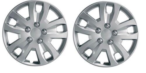 "Pair Of Silver 14/"" Caravan Wheel Trims Hub Caps for Sterling Europa 525 2003"