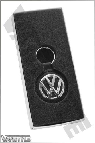VW T5 TRANSPORTER /& CARAVELLE KOMBI VOLKSWAGEN KEY RING TAG LOGO VW LEATHER