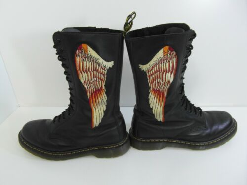 Dr Demon Wings Angel Martin Black Unisex Marten Uk9 Vgc Rare Hell Boots pqZxwfrpF