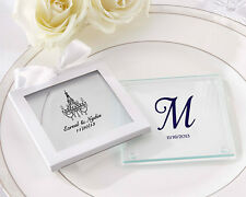 144 Personalized Printed Glass Coasters Wedding Shower Party Gift Favors