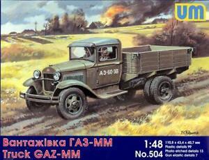 UM-MT Models 1//48 Soviet World War II AS-2 AIRFIELD STARTER TRUCK