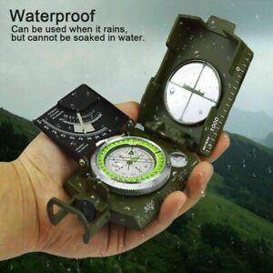Professional Pocket Military Compass Metal Clinometer Hiking Sighting Camping US