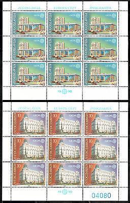 üBereinstimmung In Farbe FleißIg Jugoslawien Kleinbogen Michelnummer 2414-2415 Postfrisch klbg 1832
