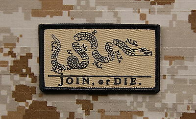 JOIN or DIE Patch Tan NSWDG SEAL DEVGRU ST6 US Navy Special Warfare VELCRO®