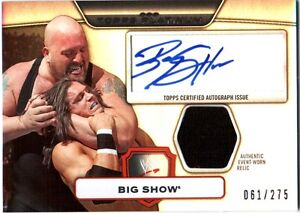 WWE-Big-Show-2010-Topps-Platinum-Autograph-Relic-Card-SN-61-of-275