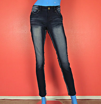 YMI Wanna Betta Butt Skinny Jeans Jeggings Juniors 9 M Acid Washed Super Soft