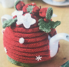 Xmas Christmas santa tea cosy ~ DK Knitting Pattern