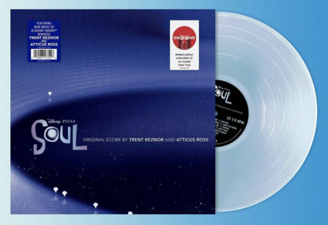 Disney Soul Soundtrack Trent Reznor Exclusive Clear Colored Vinyl / 9 Inch Nails