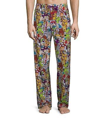 Nickelodeon Sleep Pants Rugrats Hey Arnold Ren Stimpy Pajamas, Large 36-38