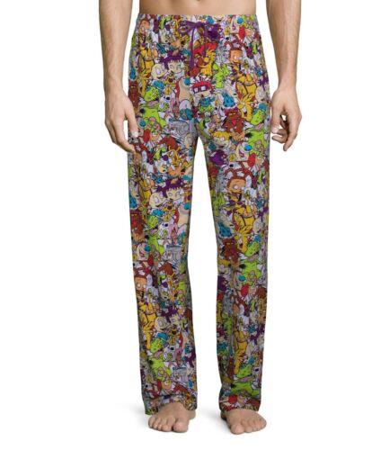 "Nickelodeon Men/'s Pjs Lounge Sleep Pants Rugrats Ren and Stimpy 2XL Big 46-48/"""