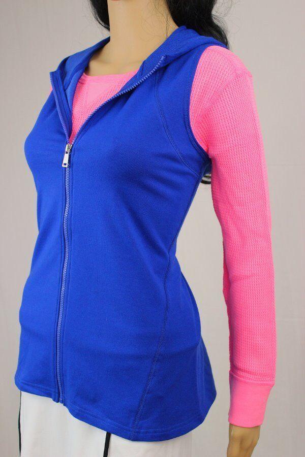 Lauren Ralph Lauren full zip sleeveless hoodie blueE NWT