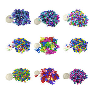 MIXED SEQUINS EMBELLISHMENTS *10 DESIGNS* SEWING CARD CRAFTS CONFETTI WEDDING