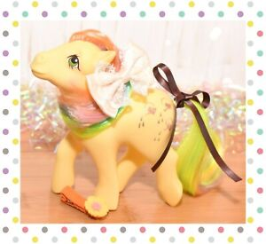 ❤️My Little Pony MLP G1 Vintage Rainbow Trickles Yellow Glitter Watering Cans❤️