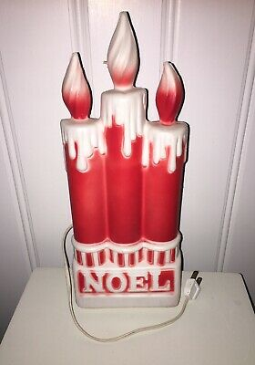 """Vintage Dapol Christmas Decor----13/"""" Lighted Blow Mold *Noel Candles*----Working"""