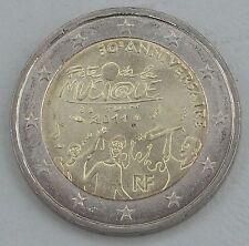 """2 Euro Frankreich 2011 """"Fête de la Musique"""" unz."""