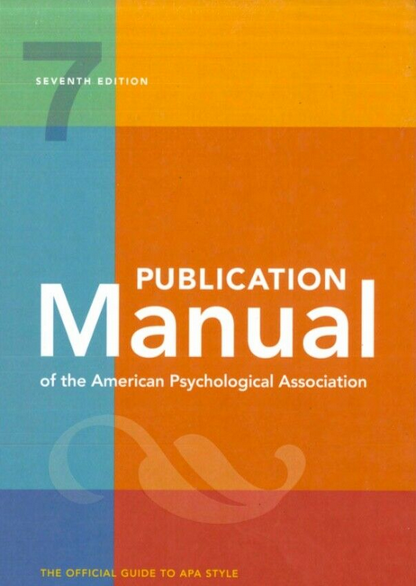 Publication Manual of the American Psychological Association 7th Edition 2