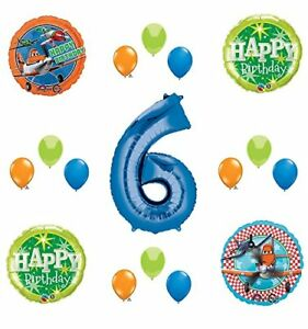 Disney-Planes-Party-Supplies-6th-Birthday-Balloon-Bouquet-Decorations-Blue-6
