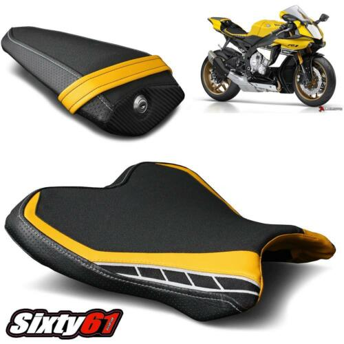 Yamaha R1 Seat Covers 2015-2018 2019 Black Yellow Luimoto Front Rear Anniversary