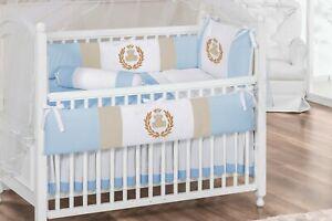 Baby Boy 7pc Nursery Crib Bedding Set