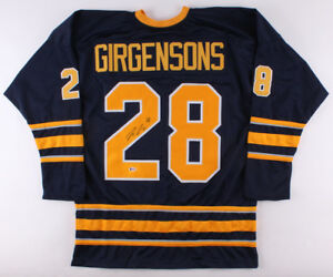 074ca6463de Image is loading Zemgus-Girgensons-Signed-Sabres-Jersey-Beckett -14th-Overall-