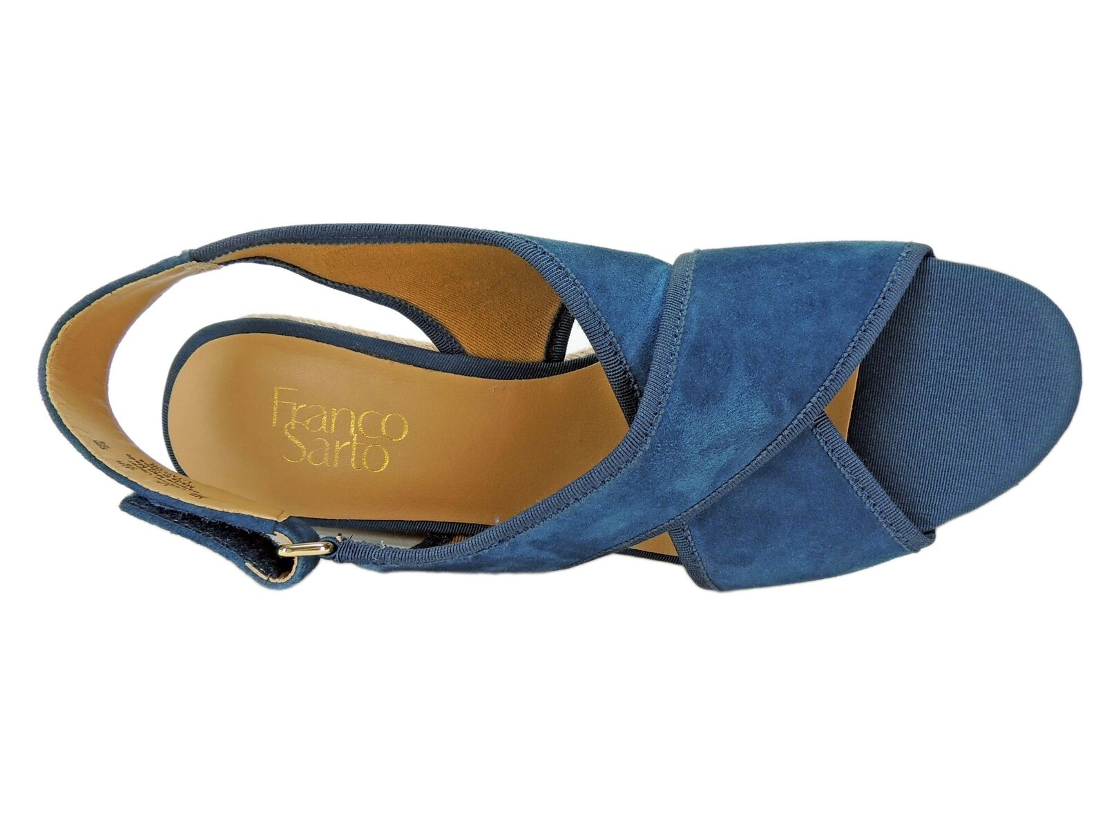 Franco Franco Franco Sarto Women's Taylor Platform Wedge Sandals Navy bluee Size 9 M 118de9