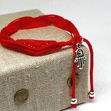 Pulsera Roja Con la Mano de Fátima Para La Protección , Hamsa Red Bracelet