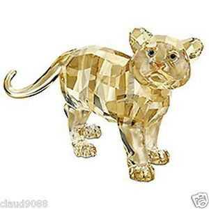 SWAROVSKI-SILVER-CRYSTAL-034-2010-TIGER-CUB-STANDING-034-MINT-IN-BOX-1016677