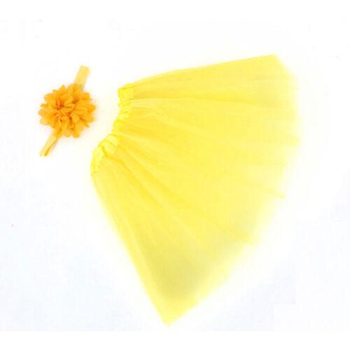 Newborn Baby Kid Girl Flower Headband  Tutu Skirt Photography Costume Prop ghtyh