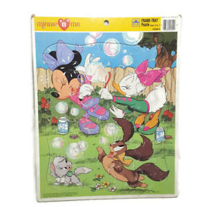 Vintage-Disney-Minnie-n-039-Me-Puzzle-90s-Mouse-Daisy-Duck-Frame-Tray-Preschool-Toy