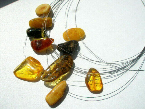 NATURAL BALTIC AMBER PENDANT NECKLACE