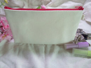 20 Lot DIY Blank Canvas Zipper Makeup Bags Cosmetic Purse Phone Pouch Pen Cases
