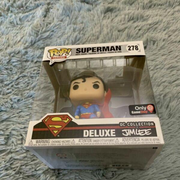 Superman Funko Pop Superman on Gargoyle Jim Lee Collection Deluxe #278 Exclu