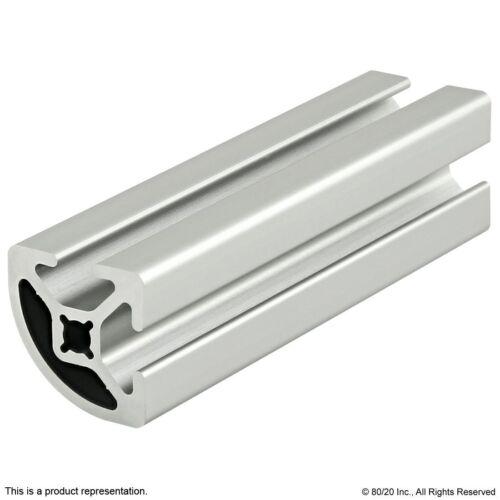 "80//20 Inc 10 Series Smooth Quarter Round Aluminum Extrusion 1012-S x 36/"" Long N"