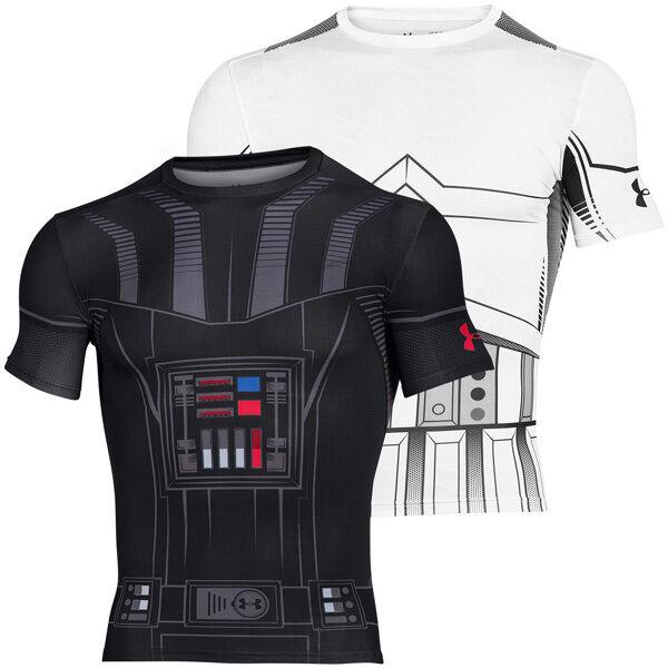 Under Armour Star Wars Vader Vader Vader Trooper Compression Short Sleeve Shirt starwars cfd745