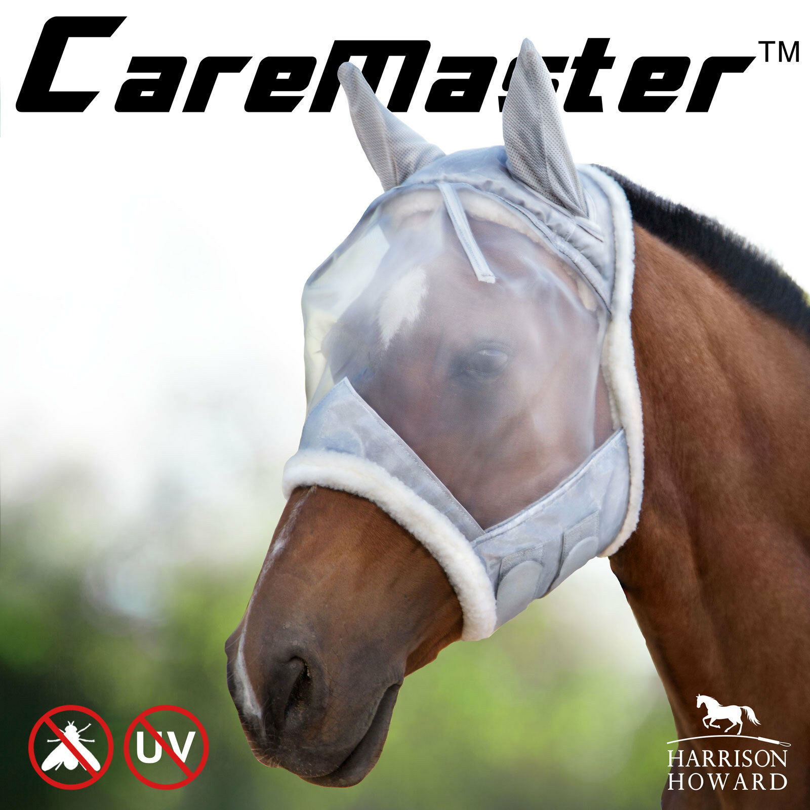 Harrison Howard CareMaster Fly mask half face Extra Wool predection Free Postage
