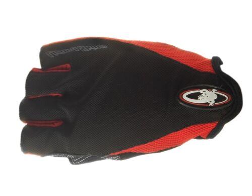 Red//Black Lizard Skins G-Love Short Gloves