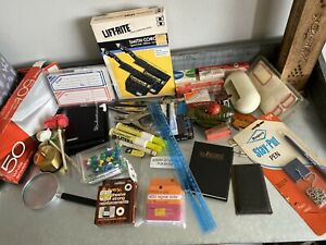 Lot Of Vintage Office Supplies Rolodex Scissors Staples