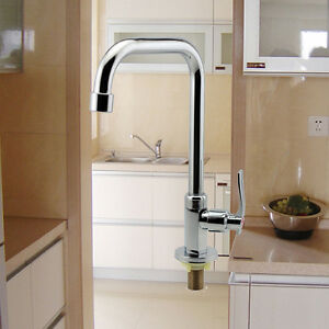 Floor Mount Single Hole Kitchen Wash Basin Faucet Mixer Water Taps ...