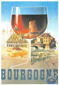CP Postcard Poster Advertising Bourgogne Edit Clouet T51