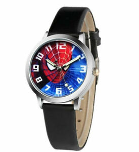 Spiderman Children's Watch With Numbers  for Kids Boys Girl Christmas Gift